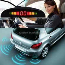 BOLAN Car LED Screen Reverse Ultrasonic Parking Sensors with BIBI Alarm Or Optional Human Voice