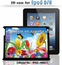 Funky case for ipad,Hot selling 3D bear case for ipad2/3 with flowers