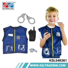 High quality hot sale party cosplay age 3-6 kids police costume