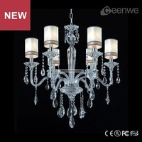 Fashion hot sale modern 6 lights smoky crystal chandelier
