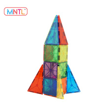 MNTL-Kids lovest 69 pieces magnetic geometric shape building blocks plastic educational toy with vivid color