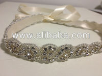 Wedding Bridal Beaded Sash Crystal Belt Beaded Bridal Sash,Bridesmaids belt,Wedding Gown Belt