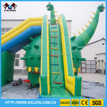 Blue giant inflatable water slide, cheap inflatable water slides for sale