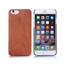 Luxury Natural Real Palm Rosewood Blank Wood Cell Phone Case Cover For iPhone 6 6S
