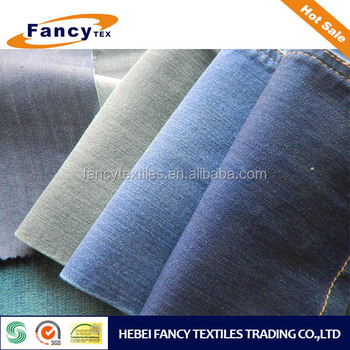 poly/cotton/spandex denim for make trousers