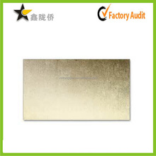 2015 Accept custom high end gold metal business card blank