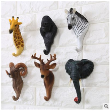 Fashion resin clothes decorative animal wall hook for bar for home decor