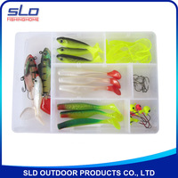 fishing soft lure baits assortment kit with plastic box