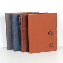 Classic handmade vintage colorful custom leather promotion a5 notebook personal travel journal diary exercise note book