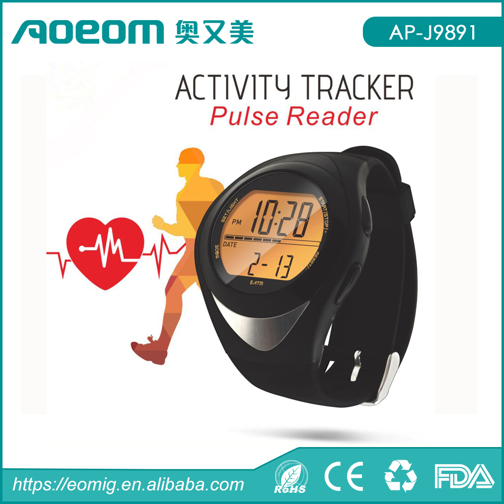 Wholesale waterproof heart rate monitor CE&RoHS approved kids pedometer watch