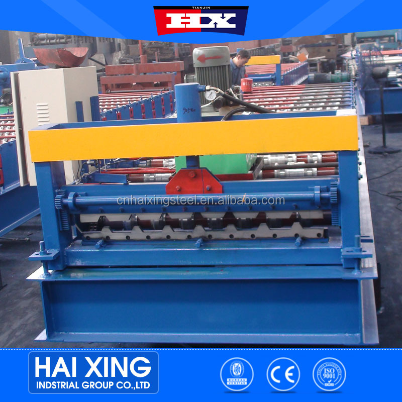 Manufactuer construction material prepainted galvanized steel profile roof cold moulding roll forming machine