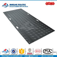 Temporary hdpe roadmat for equipment