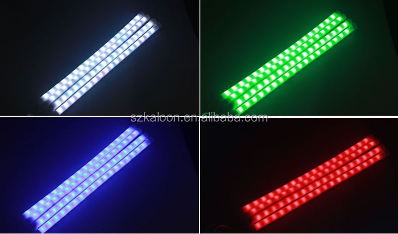 4pcs/set RGB Sound Activated Glow LED Interior Decorative Atmosphere Light