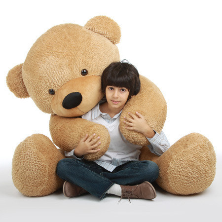 Shaggy Cuddles Soft and Huggable Giant Amber Teddy Bear 72in - The Biggest T_e_d_d_y B_e_a_r!