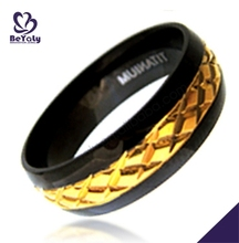 Christmas gift custom wholesale pure gold wedding ring