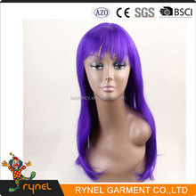 PGWG1958 Purple Long Hair High Quality Synthetic Hair Lace Front Wig