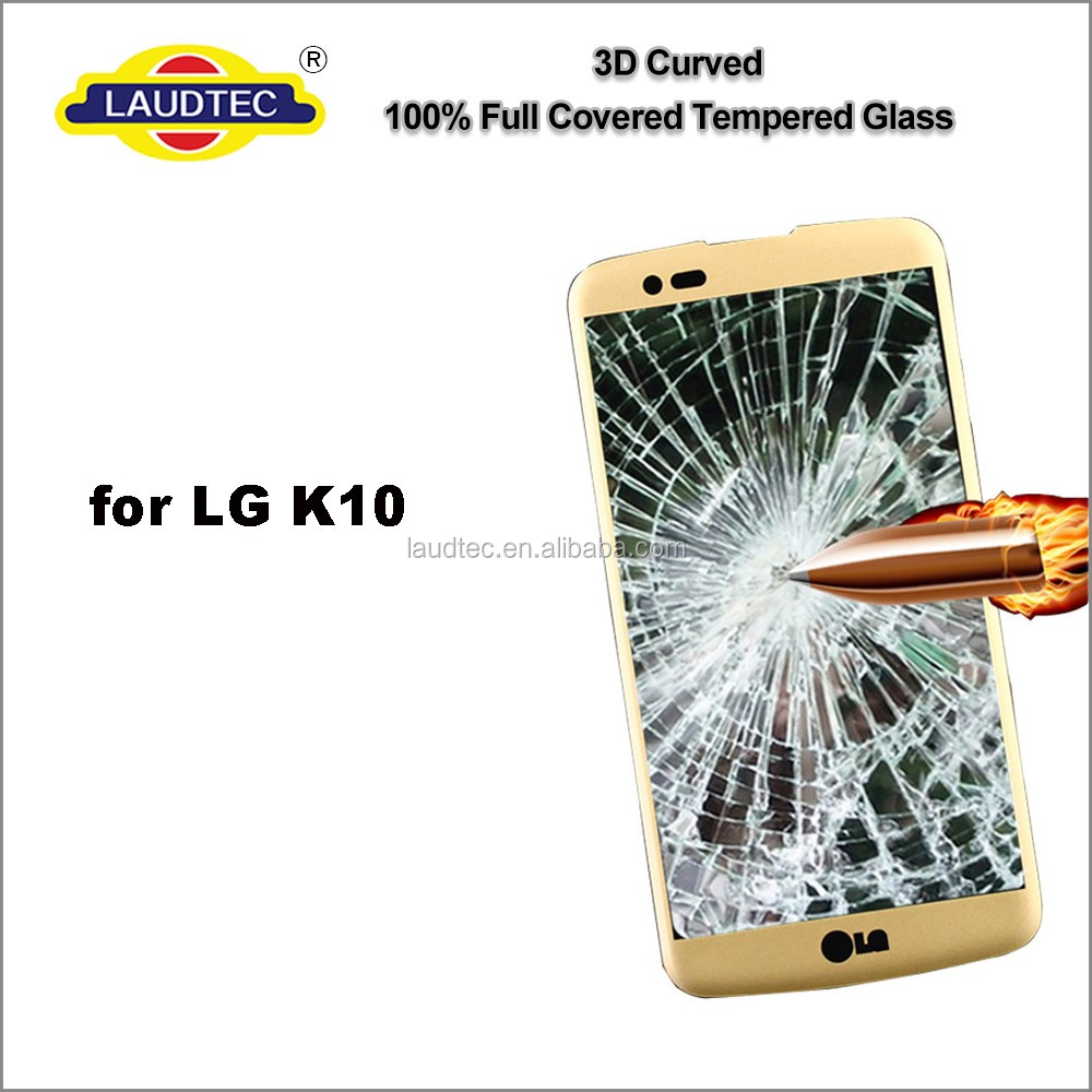 Premium Full coverage curved Tempered Galss screen protector for LG <strong>K10</strong>