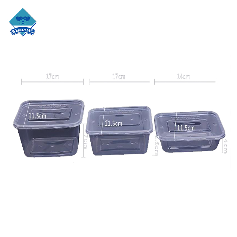 Disposable Plastic Lunch Box Take-away Box Resuable Food Containers Plastic