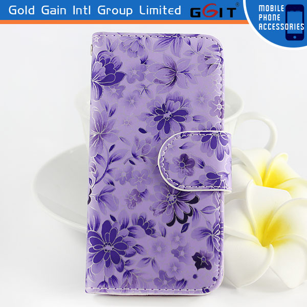 Leather Case Cover for iPhone 5, for iphone 5 Mobile Phone Case