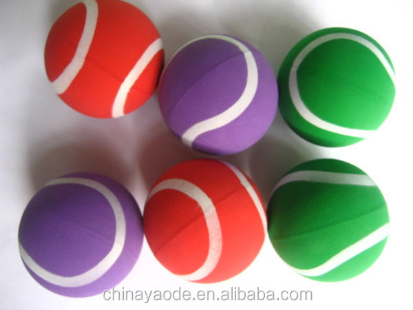 Tennis rubber bouncing balls toy/printed bouncy balls