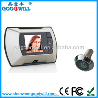 "Goodwill 2.4"" champaign gold lcd digital door peephole viewer smart design wireless door camera"