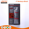 Professional Adhesive Factory waterproof siliconesealant red/black/grey/black rubber toughened ethyl cyanoacrylate glue