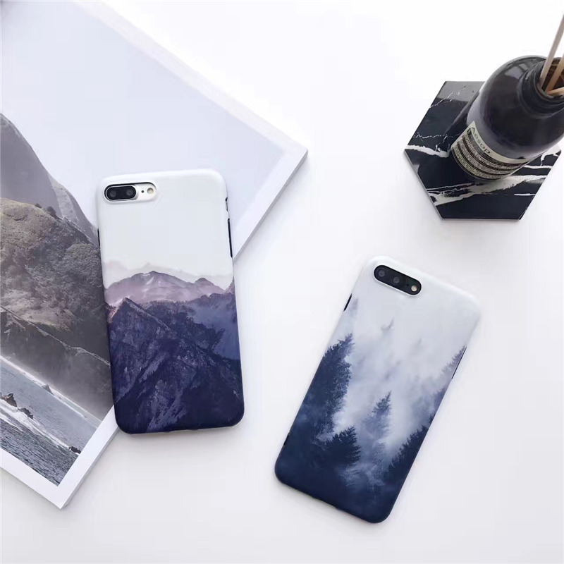 Landscape scenery painted case for iphone 7 7Plus Forest scenery TPU Case For iphone 6 6s 6Plus back cover