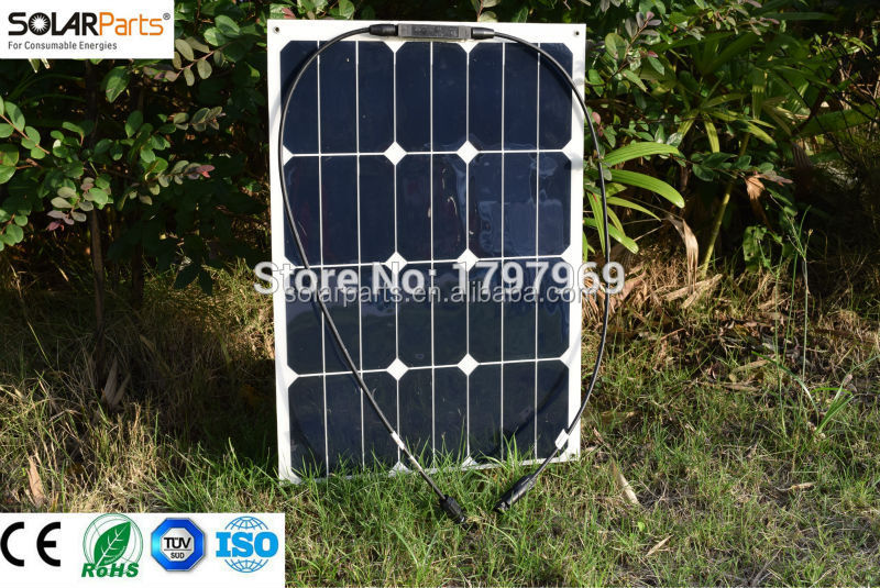 30W kit panel solar flexible solar panel price India idk solar panel for RV/Boat/Golf cart/Marine/Yachts/Home use