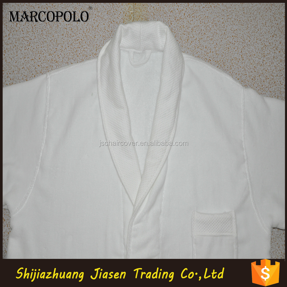 100% Cotton wholesale Hotel Terry Bathrobe Custom Logo for men and women