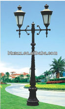Decorative wrought outdoor cast iron lighting pole base for light pole