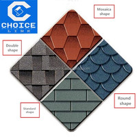 building materials Colorful roofing 3-Tab Asphalt Shingles/tile