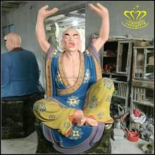 Custom fiberglass resin Shakyamuni Buddha Gold painted Statue for sale