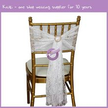 19773 Vintage Wedding Decorations For Cheap Hire White Elegance Chair Covers Lace Chair Sashes