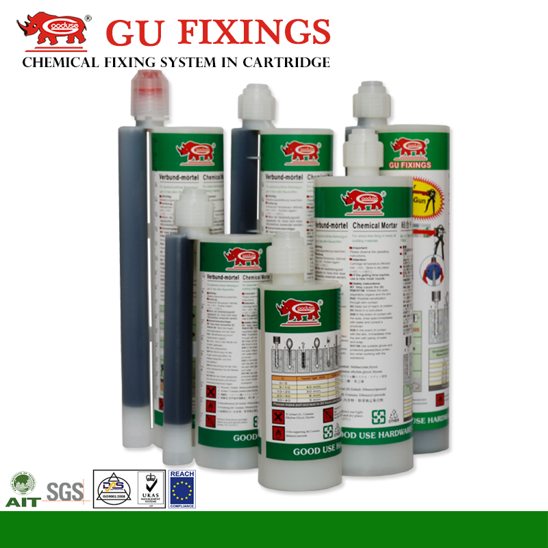 Chemical anchor fixing system injecting silicone sealant