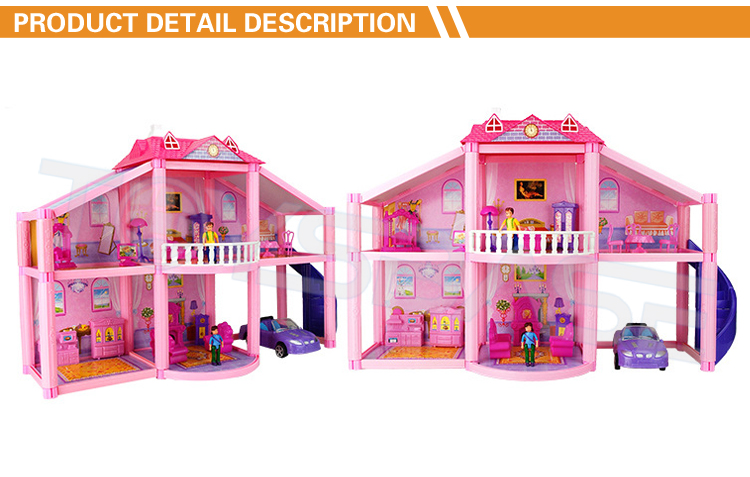 Doll House Toy - Funny Kids Plastic Toy House Diy House Toy