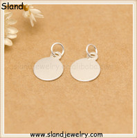 allibaba com new products 2016 custom made metal name tag set ,engravable round plate 925 sterling silver wholesale from China