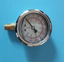 Y-60 oil filled radical pressure gauge for air compressor