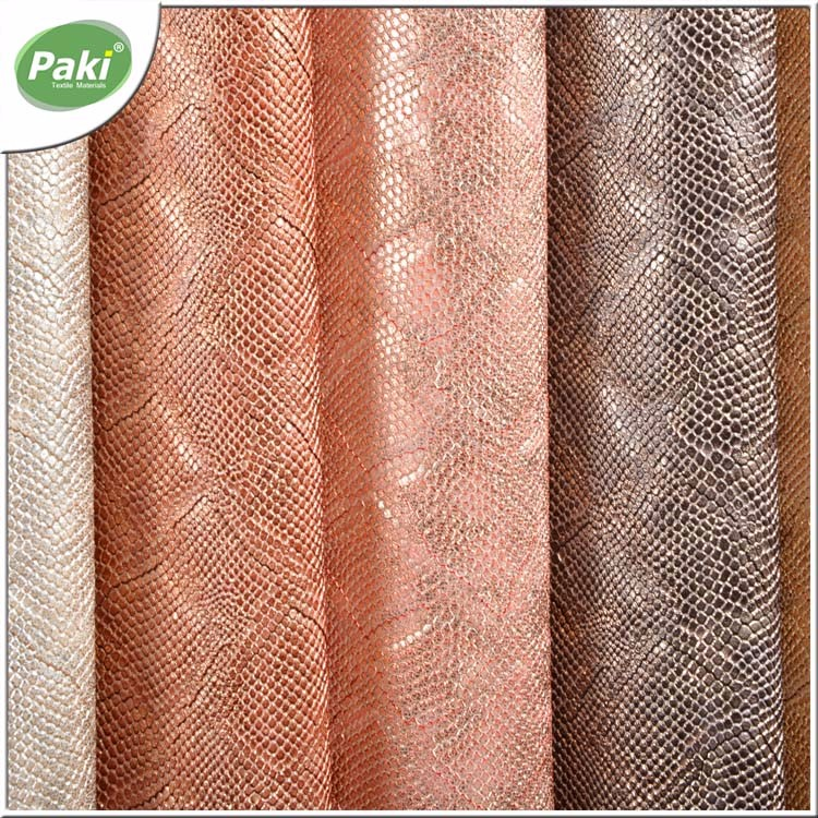 1.5mm PVC synthetic snake/python leather for women shoes
