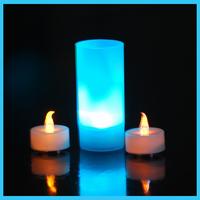 tea light including black cup candle
