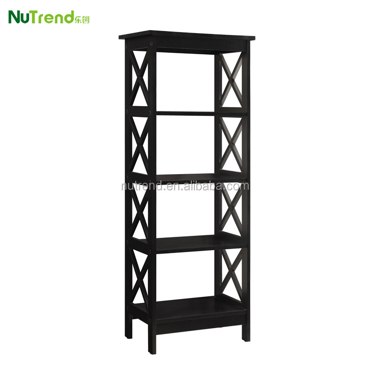 Modern wood black bookcase for sale