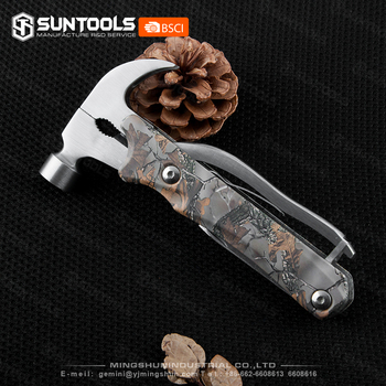 fashion-design stainless steel large Claw Hammer Camo-coating Nail hammer