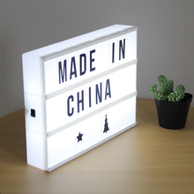 White Cinematic Style A4 Cinema Light Box Decorative LED Lightbox Vintage with Letters Advertising Light Box