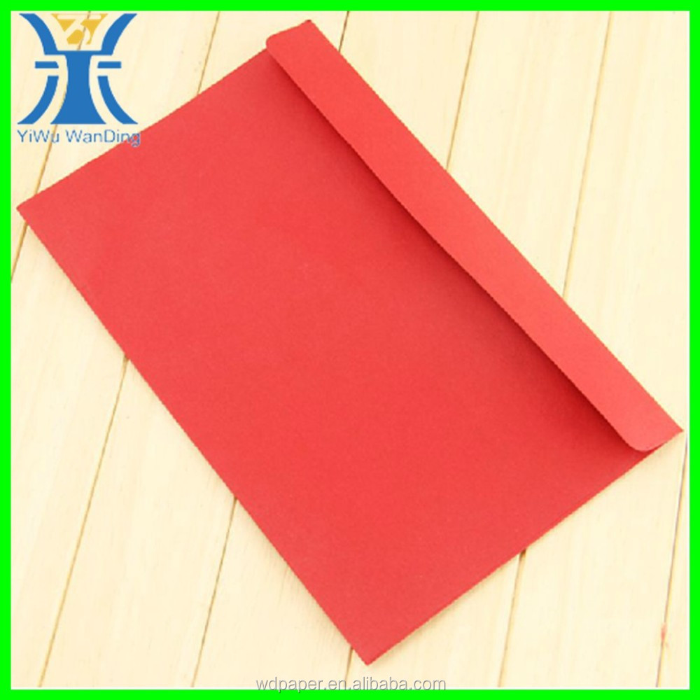 Yiwu 2015 New Arrived plain wholesale elegant blank craft unique custom made red envelope