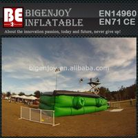 Green Giant Stunt Jump Air Bag For Exciting Sport