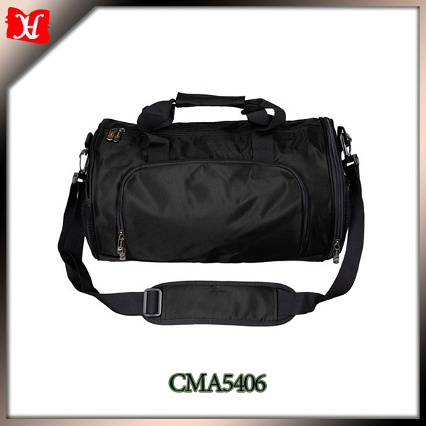 Sport nylon soccer bag with ball holder for sales