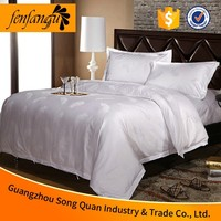 100%cotton luxury hotel flat bed sheet hotel white king cotton sheet
