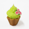 plastic artificial fake birthday cup cake decoration