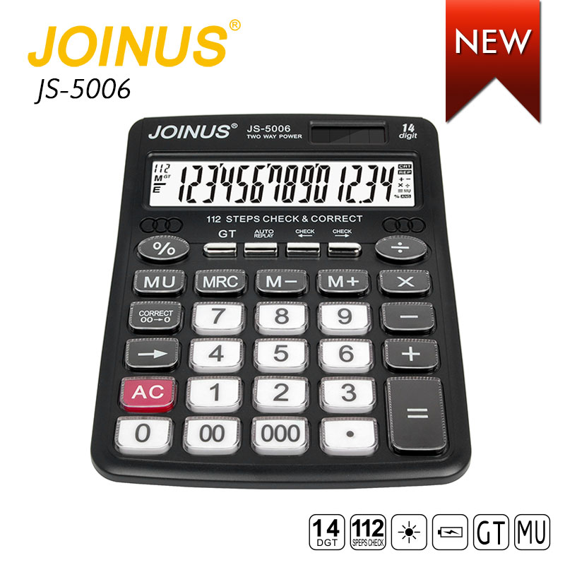 Wholesale Promotion Office Supply Business Custom 14 Digits Dual Power Desktop Electronic Solar Calculator For Student