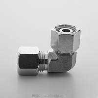 Swivel nut tube stainless steel elbow 1/2 inch 90 degree
