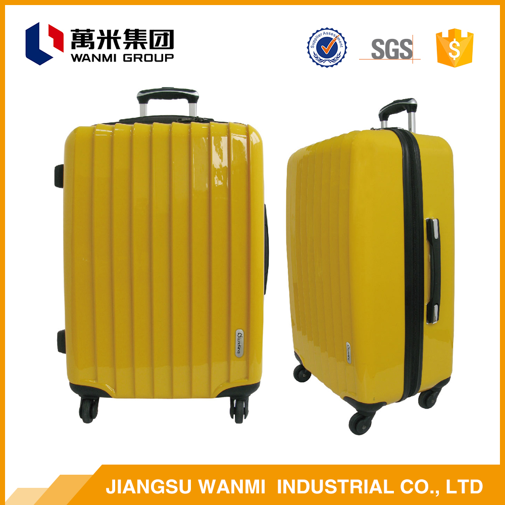 Modern design extensible abs travel luggage case bag sets